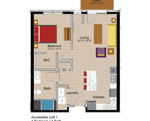 Accessible Loft - 1 Bedroom