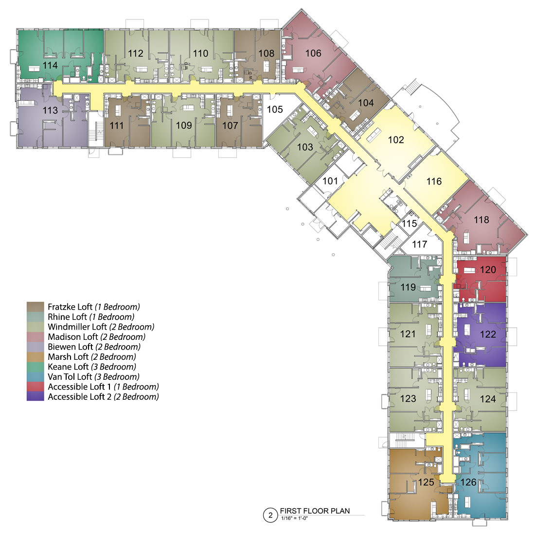 First Floor Layout M2 Lofts - Hotspot
