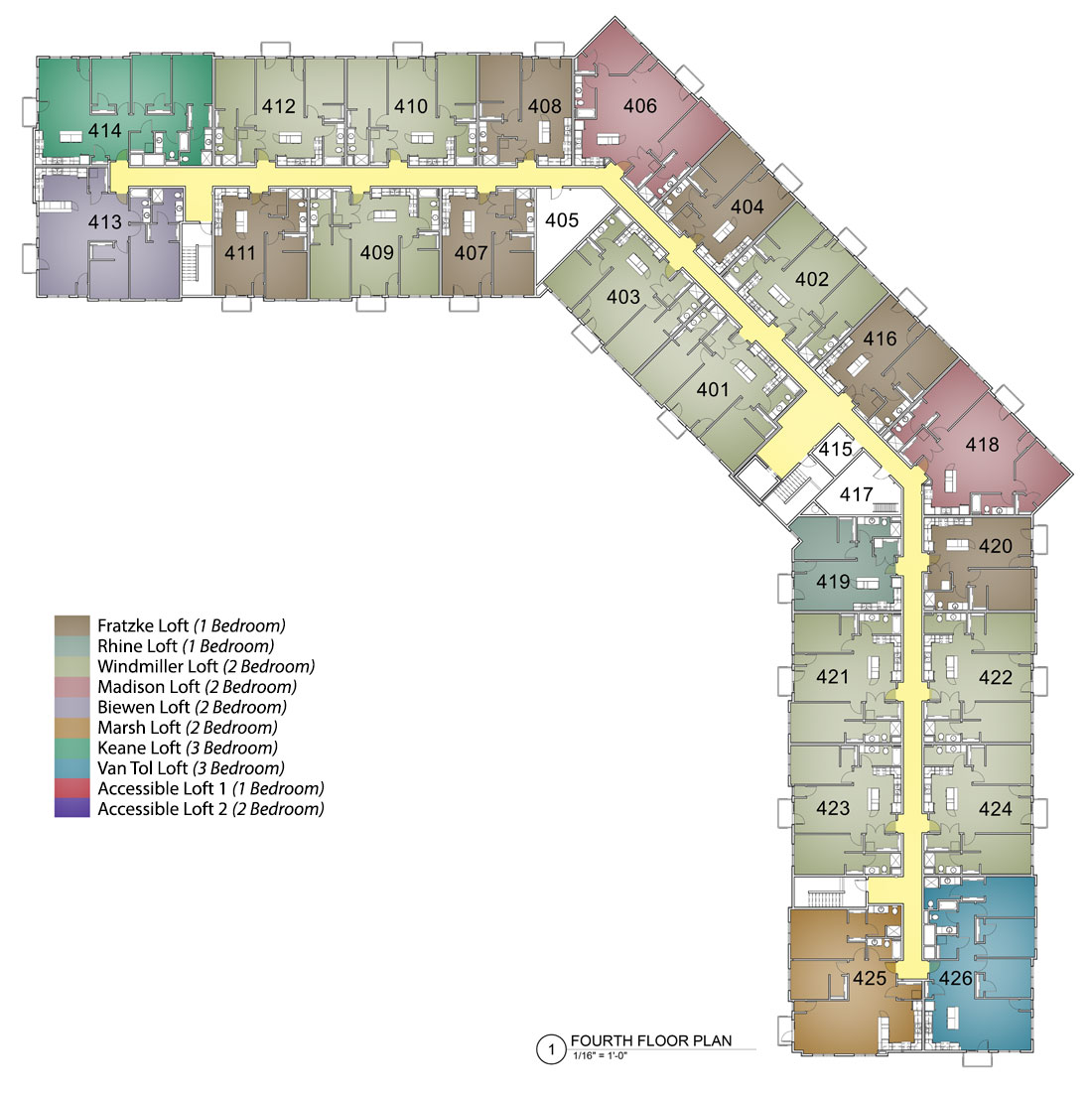 Fourth Floor Layout M2 Lofts - Hotspot