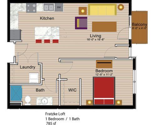Fratzke Loft 1 Bedroom