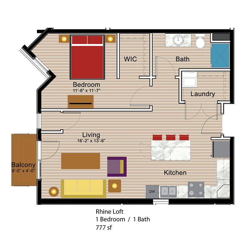 Rhine Loft 1 Bedroom