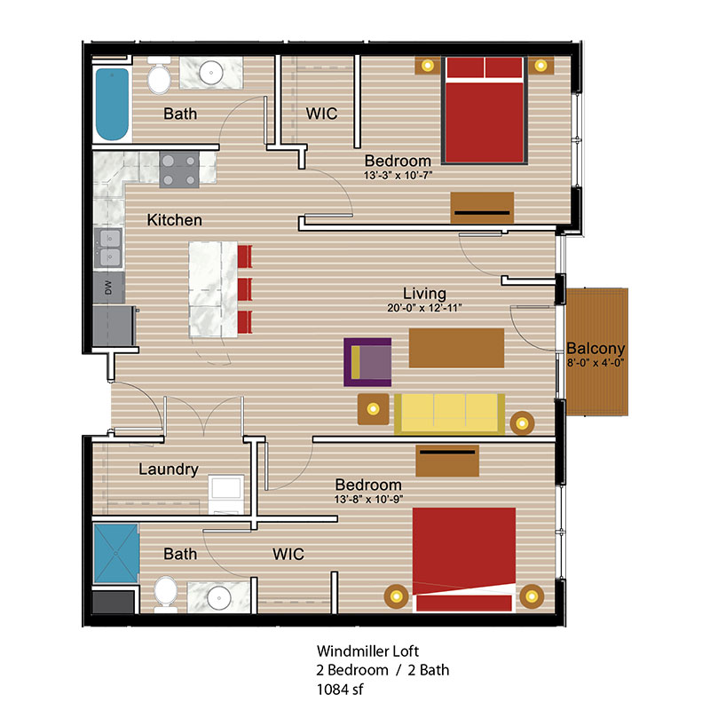 Windmiller 2 bed room